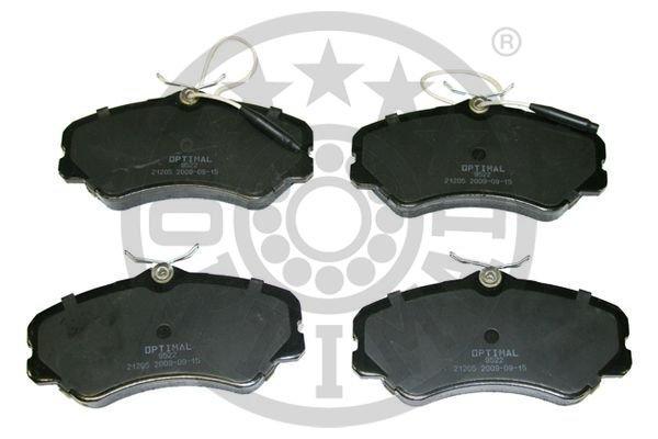 Bremsbelagsatz, Scheibenbremse Vorderachse OPTIMAL BP-09522