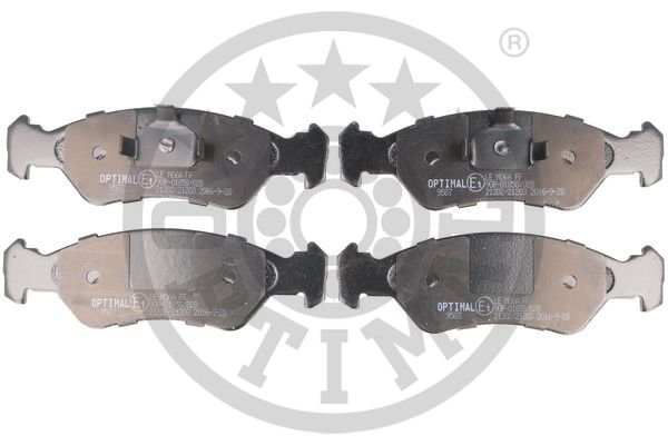 Bremsbelagsatz, Scheibenbremse Vorderachse OPTIMAL BP-09587