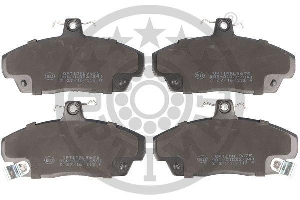 Bremsbelagsatz, Scheibenbremse Vorderachse OPTIMAL BP-09675