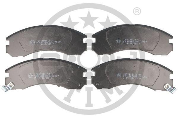 Bremsbelagsatz, Scheibenbremse Vorderachse OPTIMAL BP-09711