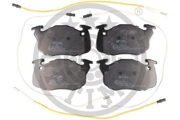 Bremsbelagsatz, Scheibenbremse Vorderachse OPTIMAL BP-09750