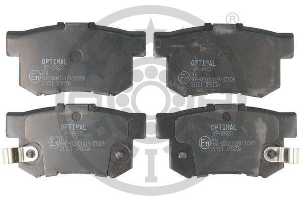 Bremsbelagsatz, Scheibenbremse Hinterachse OPTIMAL BP-09823