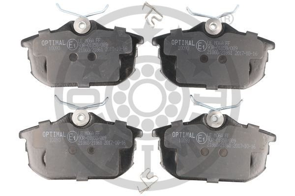 Bremsbelagsatz, Scheibenbremse Hinterachse OPTIMAL BP-10093