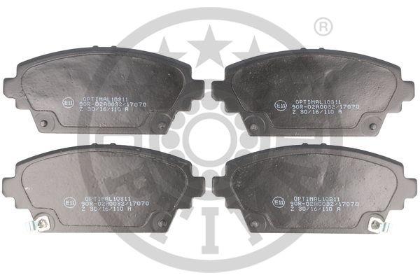 Bremsbelagsatz, Scheibenbremse Vorderachse OPTIMAL BP-10311