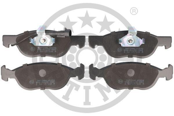 Bremsbelagsatz, Scheibenbremse Vorderachse OPTIMAL BP-10393