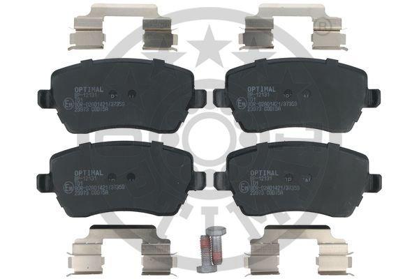 Bremsbelagsatz, Scheibenbremse Vorderachse OPTIMAL BP-12131