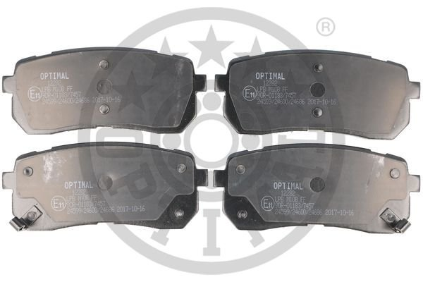 Bremsbelagsatz, Scheibenbremse Hinterachse OPTIMAL BP-12282
