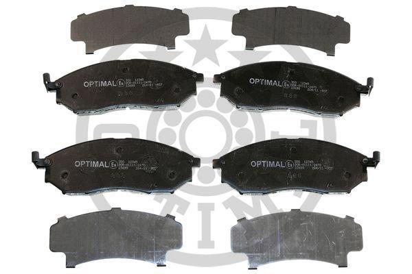 Bremsbelagsatz, Scheibenbremse Vorderachse OPTIMAL BP-12345