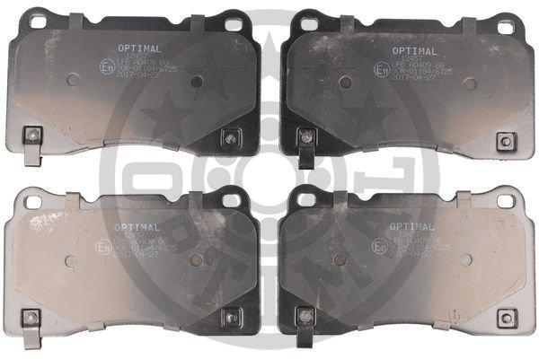 Bremsbelagsatz, Scheibenbremse Vorderachse OPTIMAL BP-12457