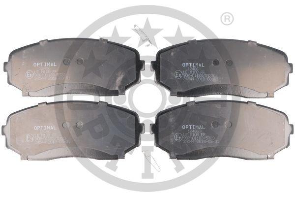 Bremsbelagsatz, Scheibenbremse Vorderachse OPTIMAL BP-12486