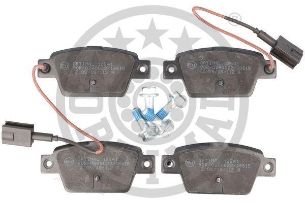 Bremsbelagsatz, Scheibenbremse Hinterachse OPTIMAL BP-12541