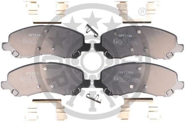Bremsbelagsatz, Scheibenbremse Vorderachse OPTIMAL BP-12577