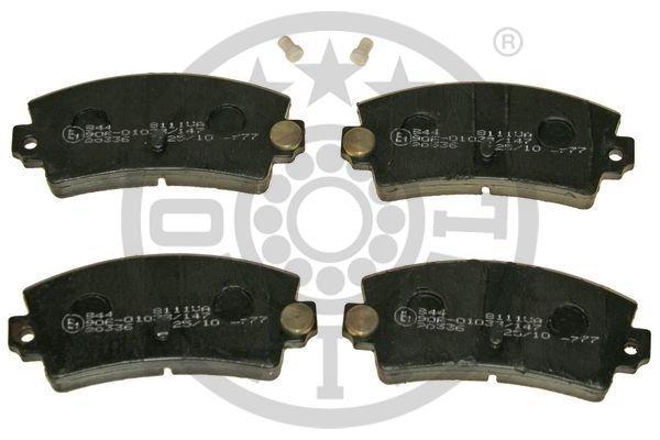 Bremsbelagsatz, Scheibenbremse Hinterachse OPTIMAL BP-81111