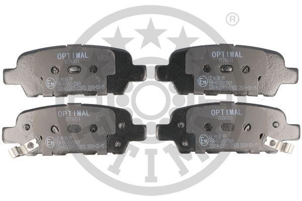 Bremsbelagsatz, Scheibenbremse Hinterachse OPTIMAL BP-87601