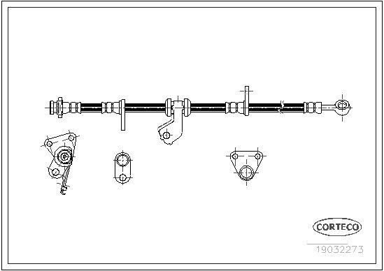 Bremsschlauch Vorderachse rechts CORTECO 19032273