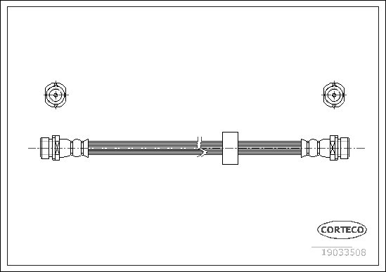 Bremsschlauch Hinterachse CORTECO 19033508