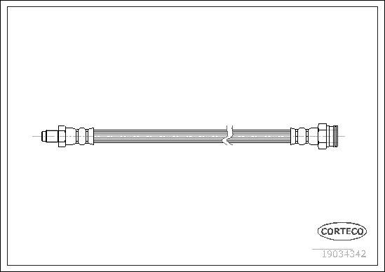 Bremsschlauch Hinterachse beidseitig CORTECO 19034342