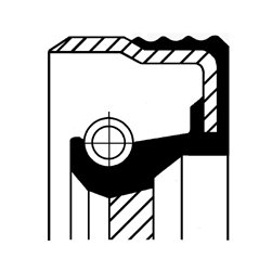 Wellendichtring, Kurbelwelle stirnseitig CORTECO 12012068B