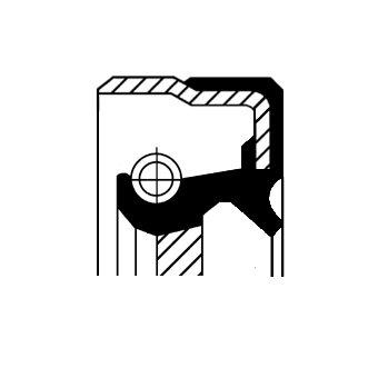 Wellendichtring, Schaltgetriebe CORTECO 12015765B