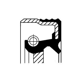 Wellendichtring, Kurbelwelle stirnseitig CORTECO 12015853B Bild 1