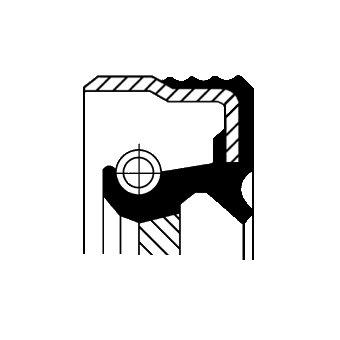 Wellendichtring, Kurbelwelle getriebeseitig CORTECO 12014402B