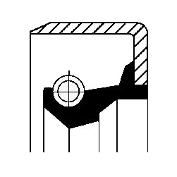 Wellendichtring, Schaltgetriebe CORTECO 12011487B Bild 1
