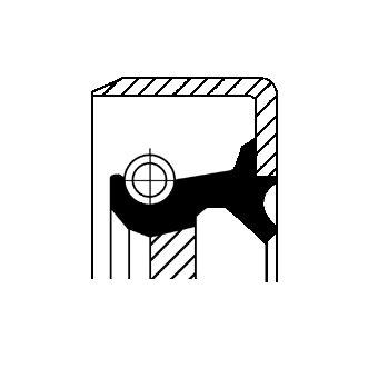Wellendichtring, Differential CORTECO 07016736B
