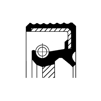 Wellendichtring, Kurbelwelle stirnseitig CORTECO 20015456B