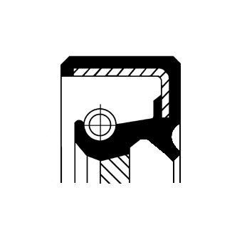 Wellendichtring, Kurbelwelle getriebeseitig CORTECO 19036721B