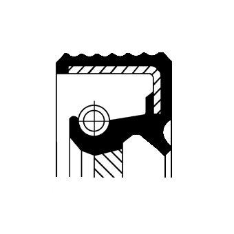 Wellendichtring, Kurbelwelle getriebeseitig CORTECO 12017124B