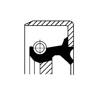 Wellendichtring, Schaltgetriebe CORTECO 19034104B
