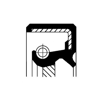 Wellendichtring, Kurbelwelle stirnseitig CORTECO 19034965B