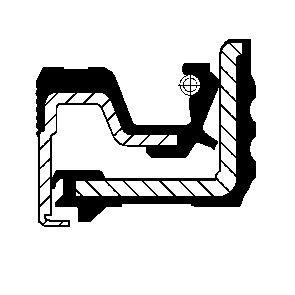 Wellendichtring, Kurbelwelle getriebeseitig CORTECO 12029820B