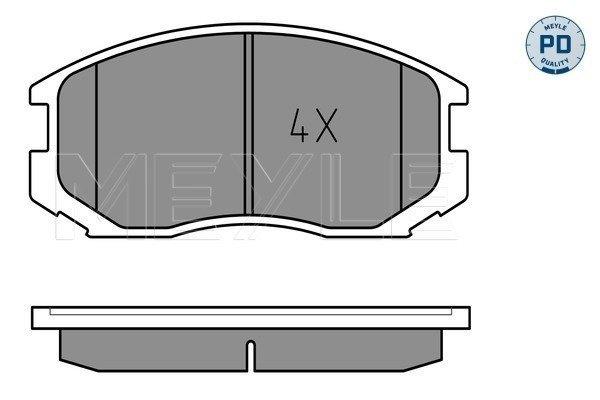 Bremsbelagsatz, Scheibenbremse Vorderachse MEYLE 025 216 5015/PD
