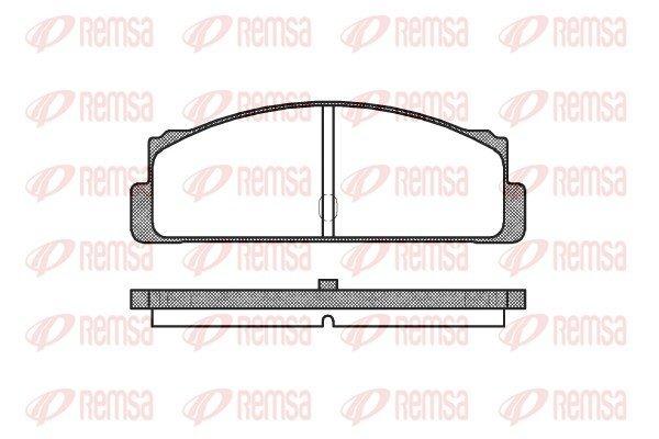 Bremsbelagsatz, Scheibenbremse Hinterachse REMSA 0022.10 Bild 1