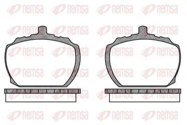Bremsbelagsatz, Scheibenbremse Vorderachse REMSA 0058.10 Bild 1