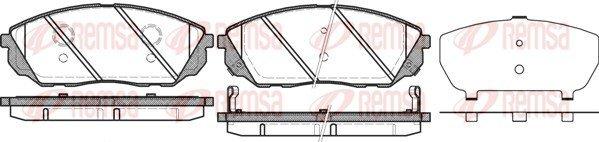 Bremsbelagsatz, Scheibenbremse Vorderachse REMSA 1041.12