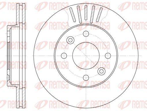 Bremsscheibe Vorderachse REMSA 6080.10