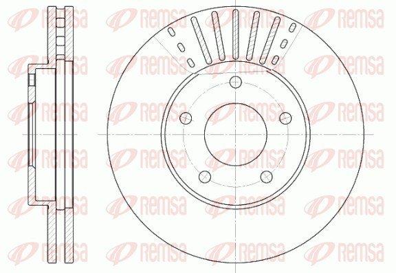 Bremsscheibe Vorderachse REMSA 6681.10