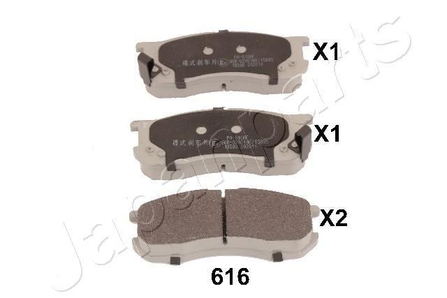 Bremsbelagsatz, Scheibenbremse Vorderachse JAPANPARTS PA-616AF