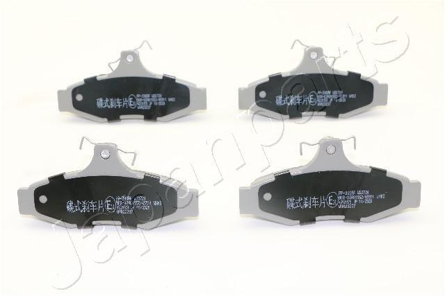 Bremsbelagsatz, Scheibenbremse Hinterachse JAPANPARTS PP-398AF