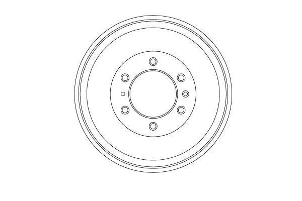 Bremstrommel TRW DB4452 Bild 1