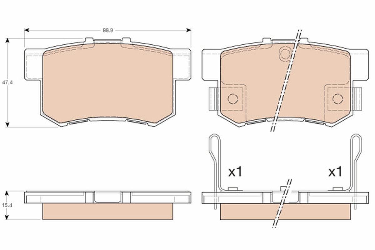 Bremsbelagsatz, Scheibenbremse TRW GDB3175