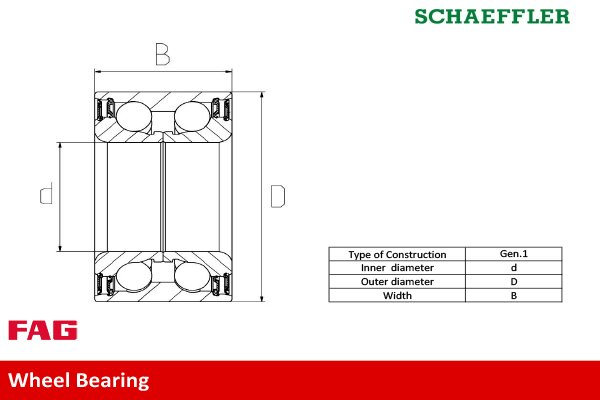 Radlagersatz FAG 713 6678 50 Bild 2
