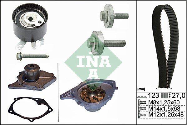 Wasserpumpe + Zahnriemensatz INA 530 0197 30
