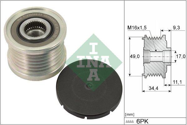 Generatorfreilauf INA 535 0075 10