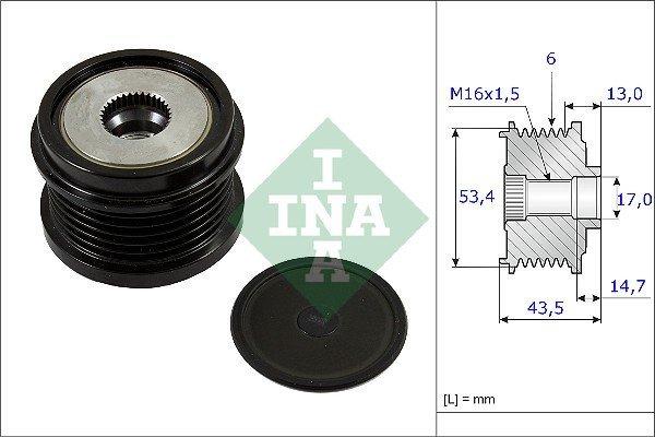 Generatorfreilauf Freilauf Riemenscheibe Lichtmaschine NEU INA 535 0046 10