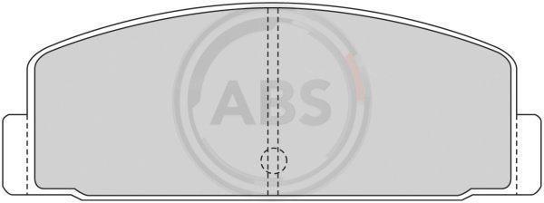 Bremsbelagsatz, Scheibenbremse A.B.S. 36390