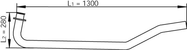 Abgasrohr vorne DINEX 47101 Bild 1