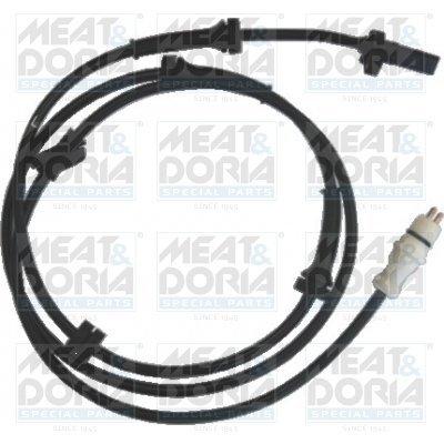 Sensor, Raddrehzahl Hinterachse rechts MEAT & DORIA 90015